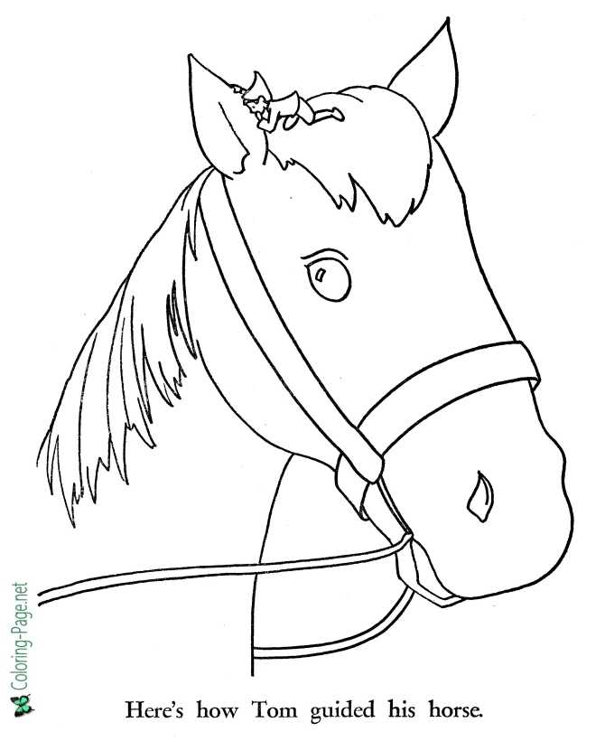 Tom Thumb coloring page for children