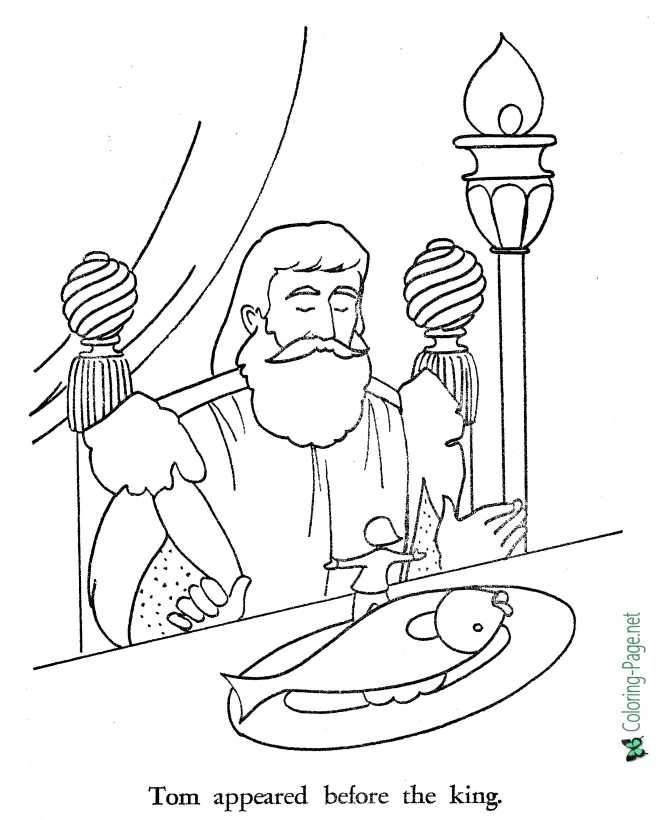 printable Tom Thumb coloring page