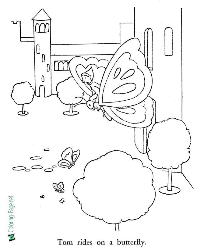 printable Tom Thumb coloring pages