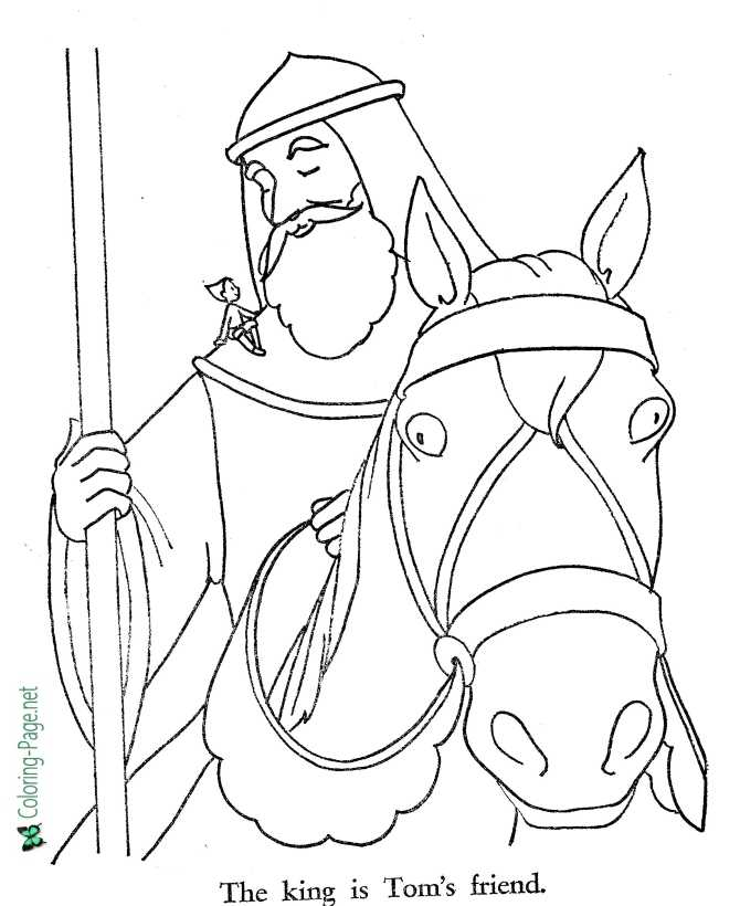print Tom Thumb coloring page