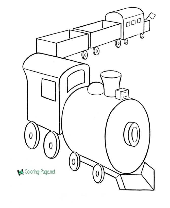 Train Coloring Pages Toy Trains To Print
