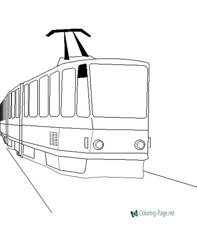 Train Coloring Pages Subway Trains