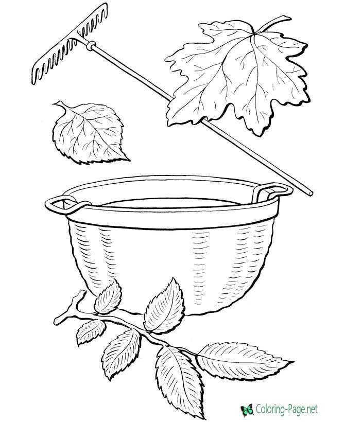 tree leaf coloring page