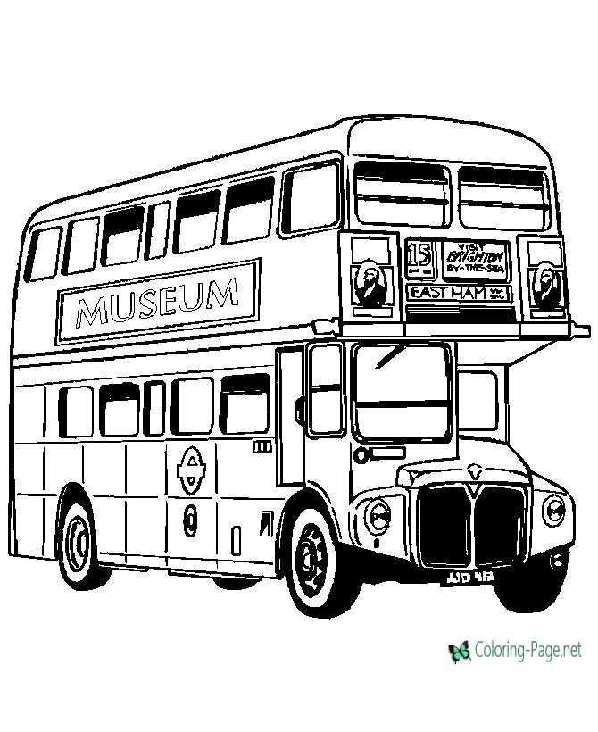 double decker bus coloring pages - photo#18