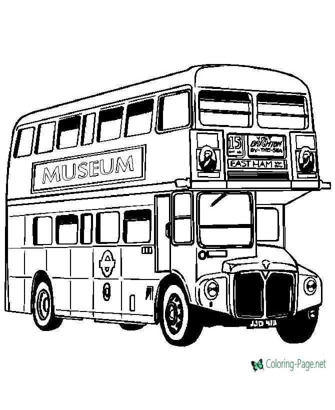 double decker bus coloring pages - photo#11