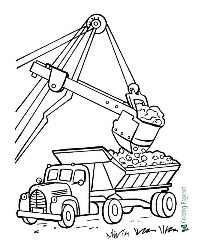 image regarding Printable Truck Coloring Pages referred to as Truck Coloring Webpages