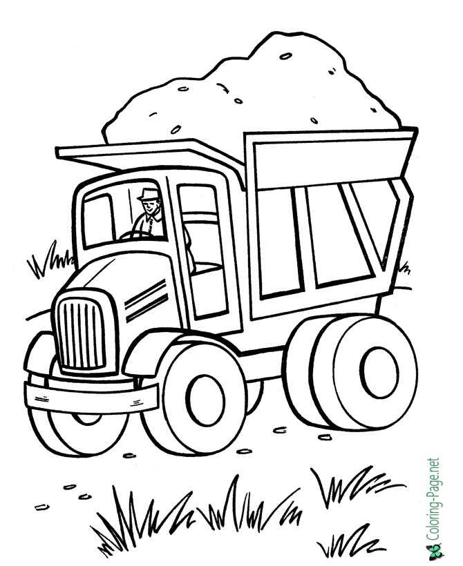 - Truck Coloring Pages