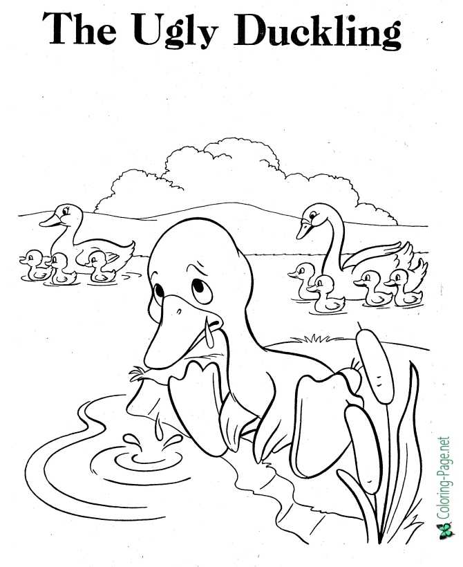 print Ugly Duckling coloring page