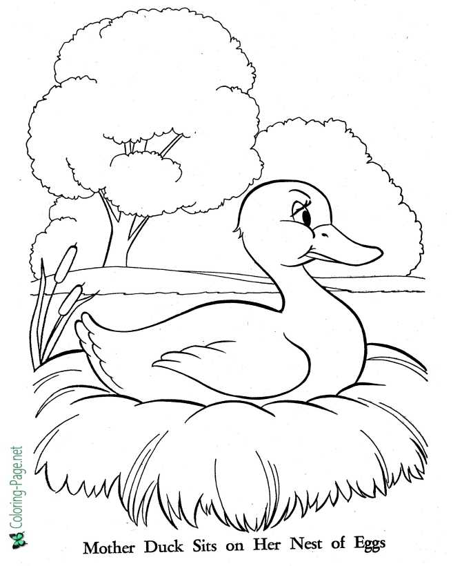 Ugly Duckling coloring page