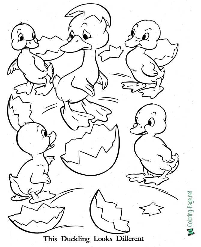 color Ugly Duckling picture sheet
