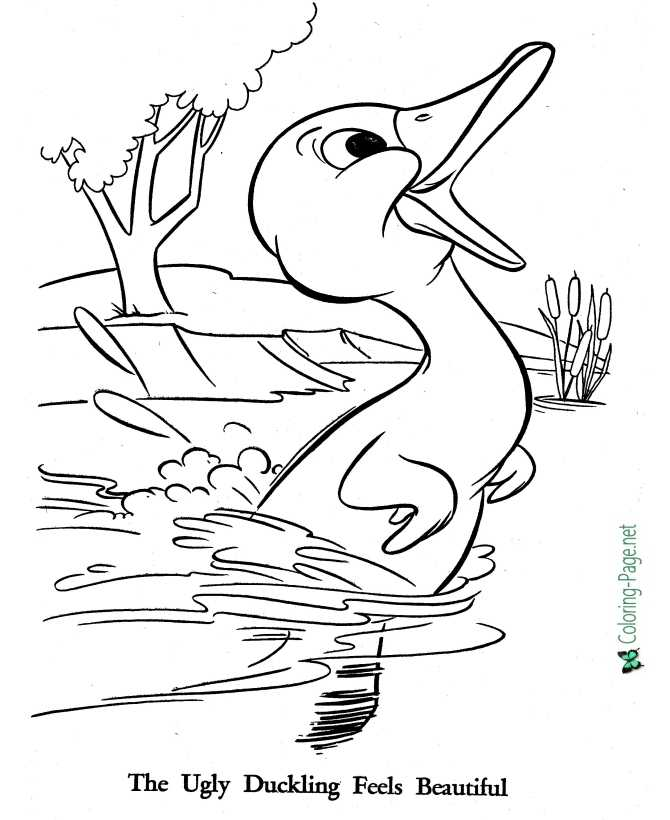 printable Ugly Duckling coloring pages
