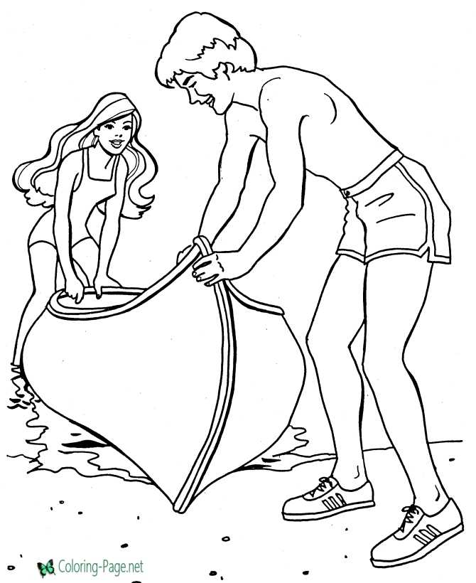 Girls On Vacation Coloring Pages For Girls