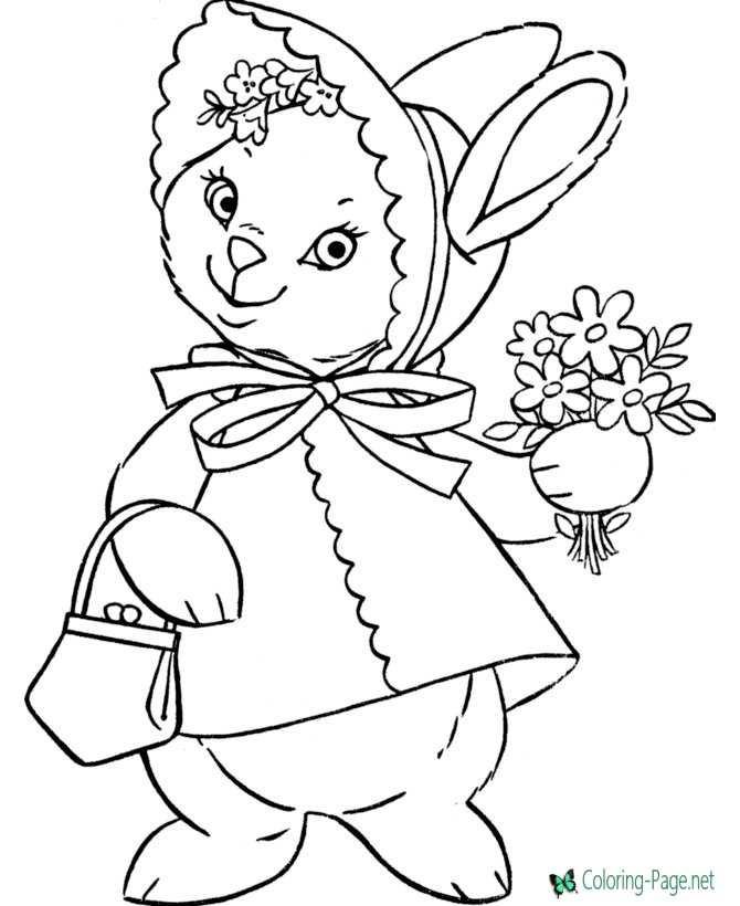 Printable Valentine Flower Coloring Pages