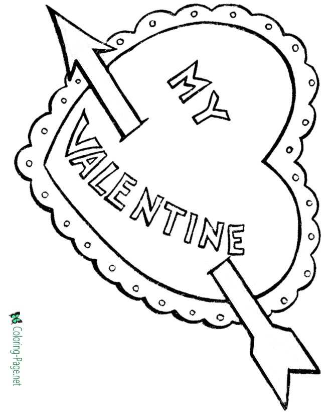 Valentine´s Day Coloring Pages Cupid Heart Valentine