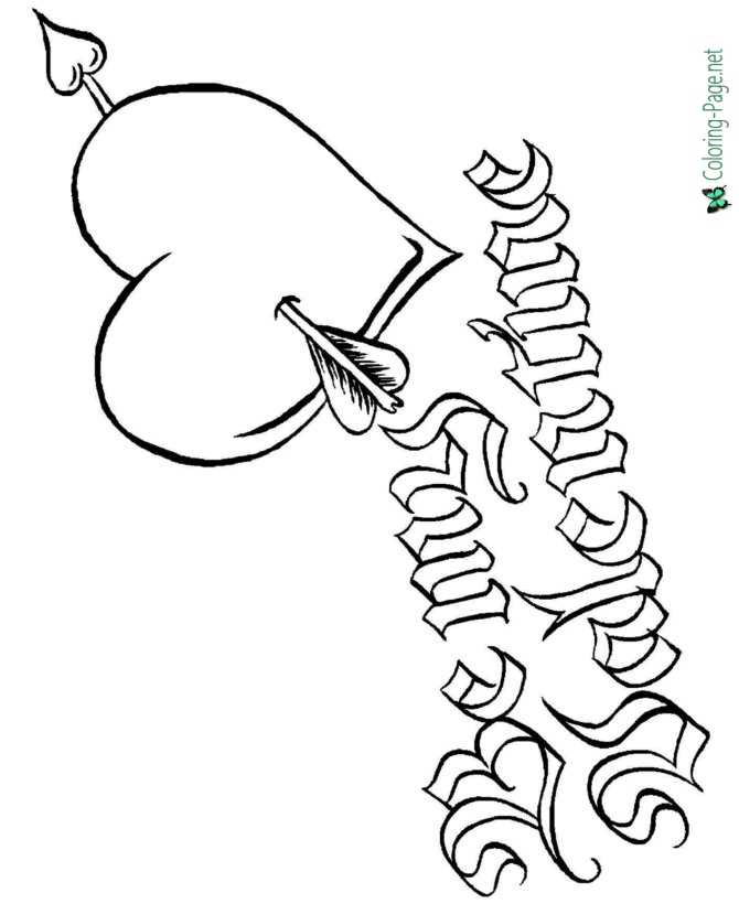Valentine´s Day Coloring Pages Cupids to Print