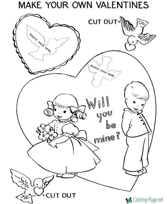 Make Your Valentine´s Day Coloring Pages