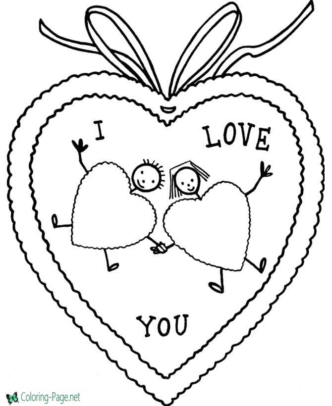 I Love You Valentine´s Day Coloring Pages