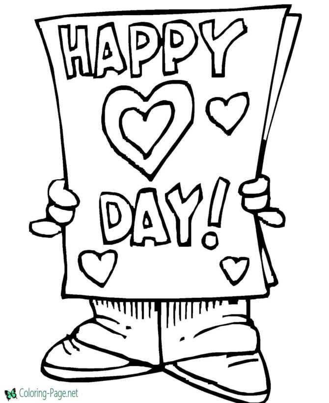 valentines day coloring pages - Valentine Coloring Sheets