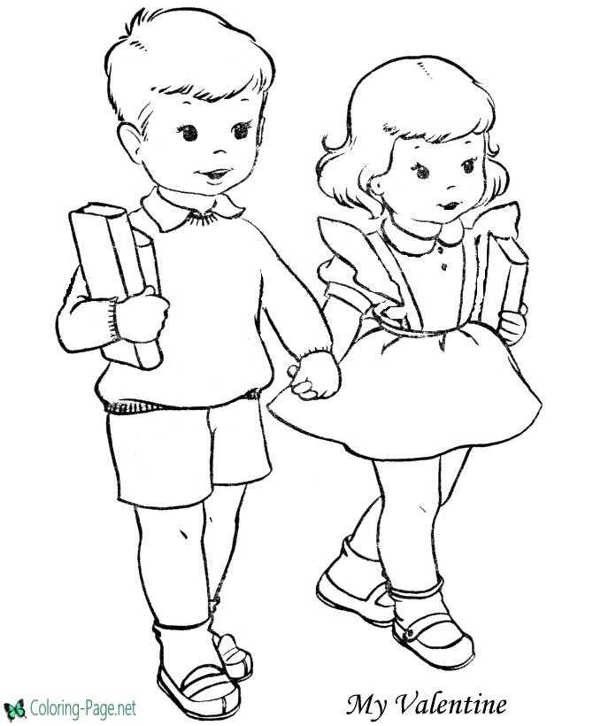 Valentine´s Day coloring page