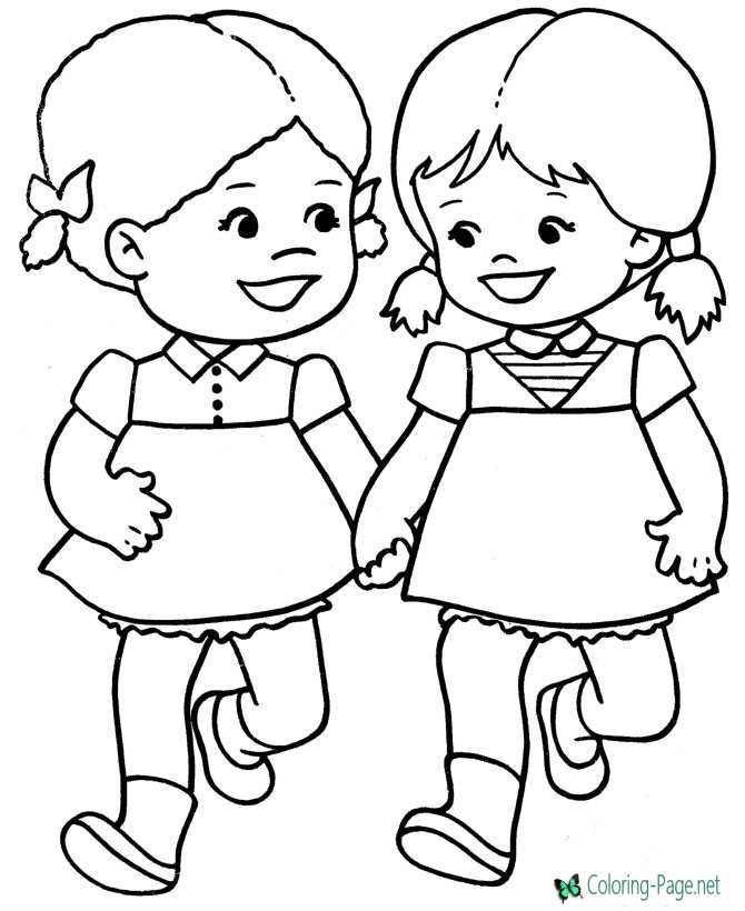 Valentine´s Day Coloring Pages Girls
