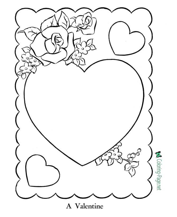 Valentine´s Day Coloring Pages Color Your Cards