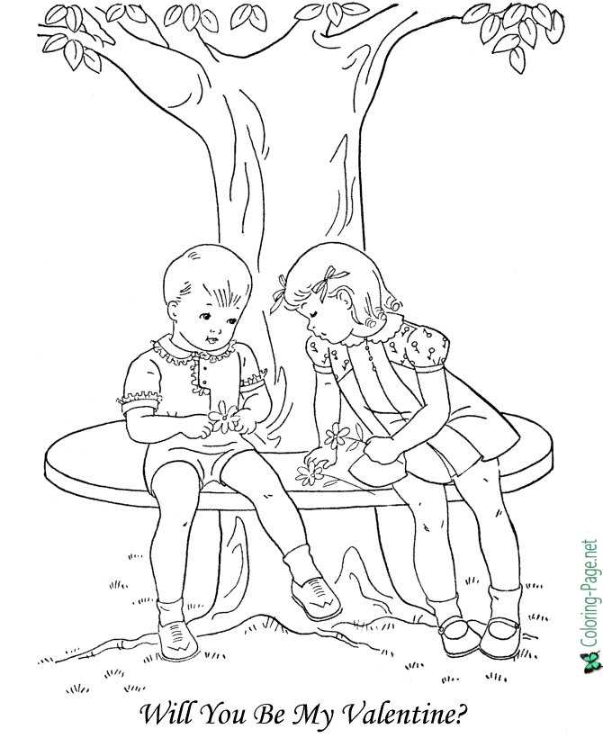 Valentine´s Day Coloring Pages Girl Valentine Print