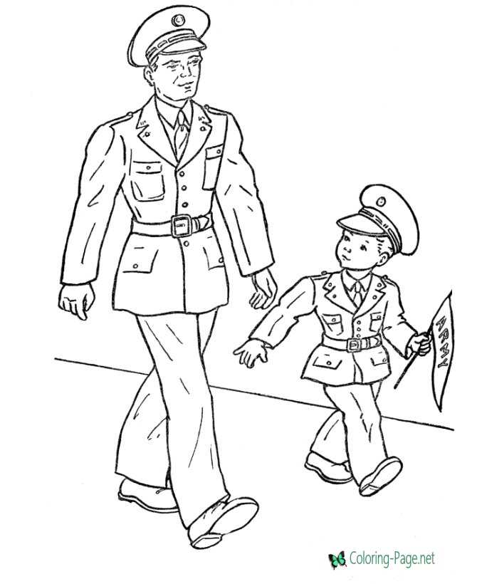 - Veterans Day Coloring Pages