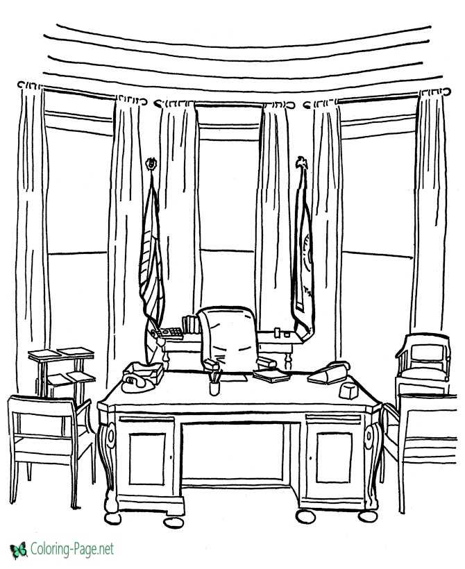 White House coloring pages