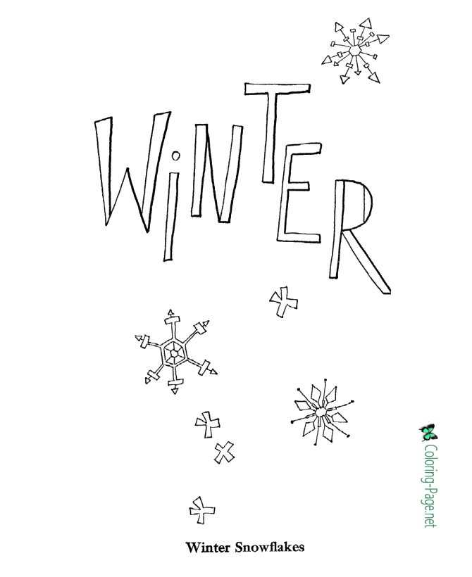 printale winter coloring pages