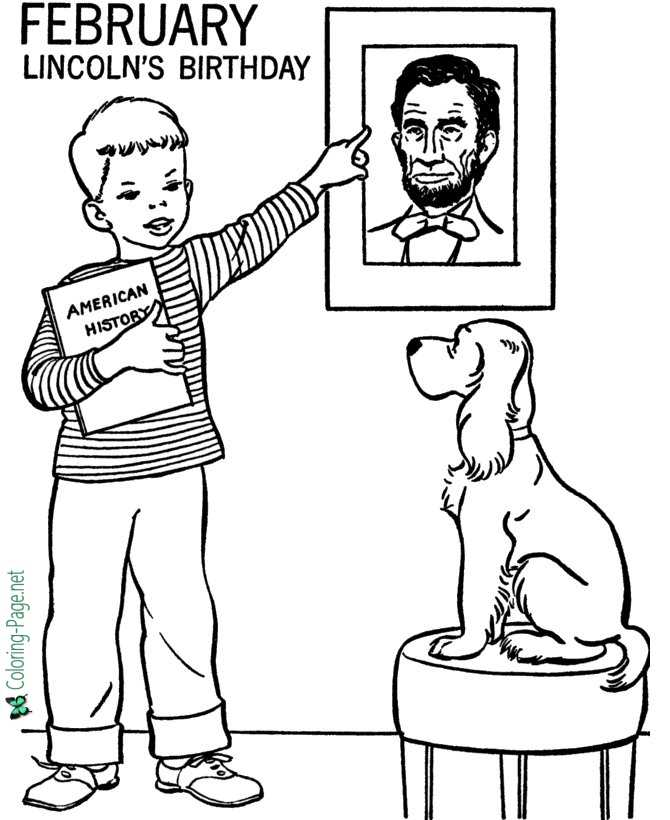 Printable Winter Coloring Pages Abraham Lincoln