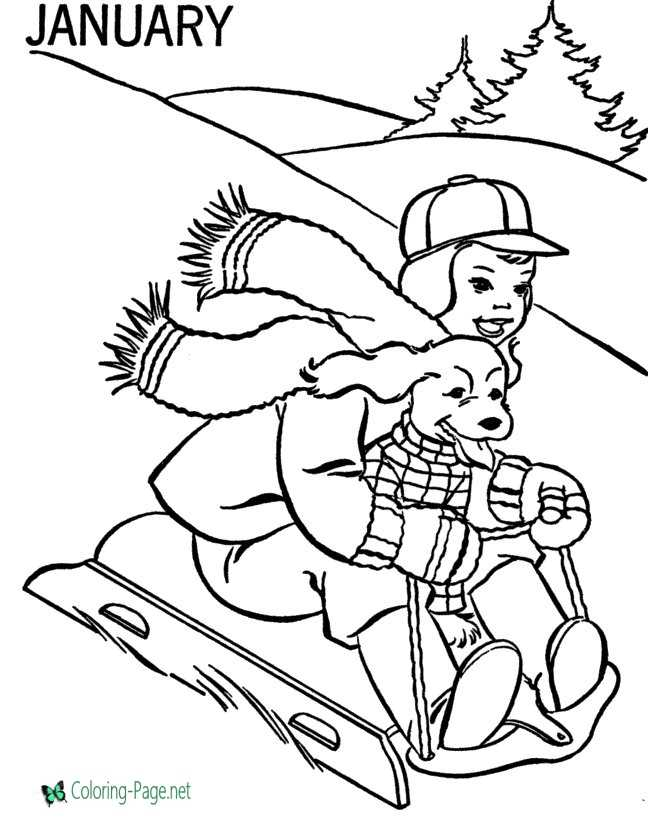 - Winter Coloring Pages