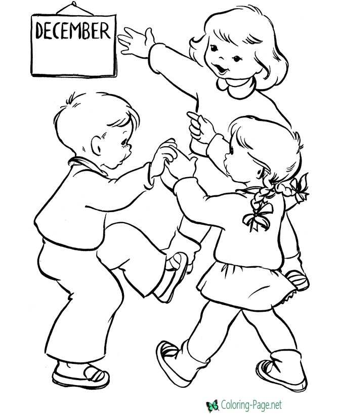 Winter Coloring Pages Kids Christmas