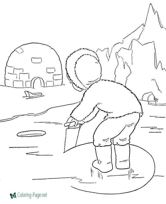 winter coloring page to print